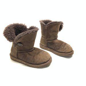 Girls UGG Australia Shearling Brown Boots Size 1